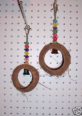 COCONUT BALL bird toy parrots cages crafts toys chins