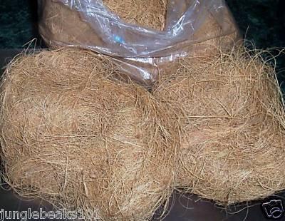 25 lbs COCONUT FIBER bird toy parts parrots bulk nests