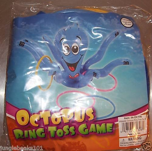 OCTOPUS RING TOSS GAME toy kids party favors prize gift