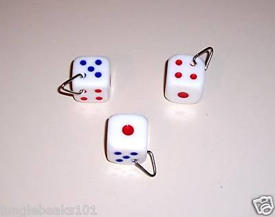 """1"""" DICE acrylic bird toys for parrots cages parts perch"""
