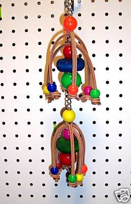 LEATHER GLIDER Solid bird toy parts parrots cages perches