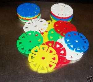 24 Small SPIN WHEELS bird toy parts parrots cage crafts