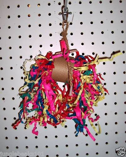 Mini PARTY POPPER bird toy parts parrots cockatiel