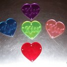 1 Acrylic KISS Heart bird toy parts parrots cage crafts