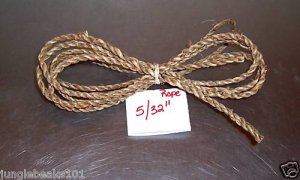 """25' 5/32"""" NATURAL GRASS Rope bird toy parts parrot cage"""