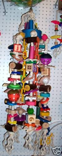BAGEL MONSTER bird toy parts parrots cages perch macaws