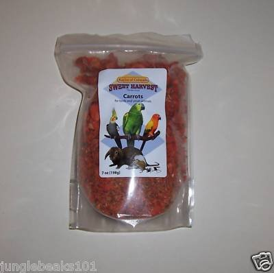 Kaylor DRIED CARROTS bird parrot foods rabbits