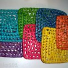 "6"" Colored Palm Leaf Mats bird toys parrots parts craft"