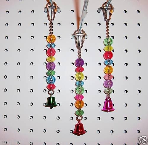 BEAD JINGLER Transparent bird toy parts parrots parkaeets cockatiel
