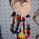 GLOW HEART bird toy parts parrots cages perches conures