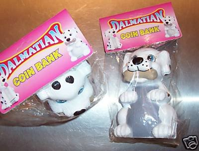 DALMATIAN BANK toys gifts prizes kids coins loot bags