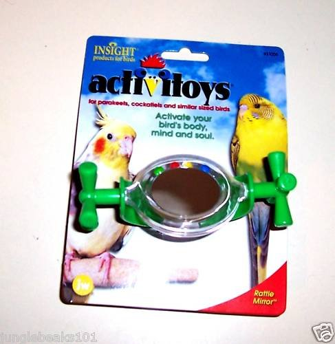 SPNNING MIRROR bird toy parts parrots cockatiel keets