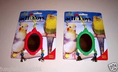 1 FANCY Bird MIRROR bird toy parts crafts rabbits chins