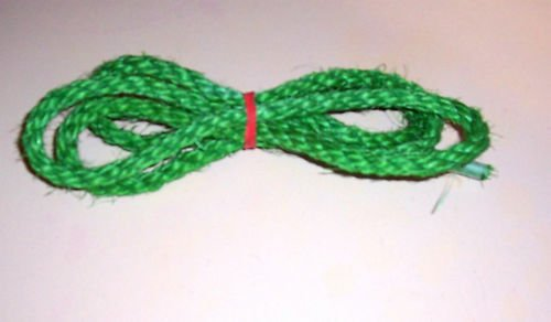 """1/2"""" GREEN SISAL Rope Unoiled bird toy parts 5' chin"""