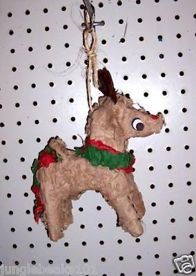 REINDEER PINATA bird toy parts rabbit chins Christmas