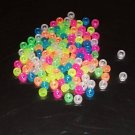 Glow In The Dark Pony Beads bird toy parts 4 parrots