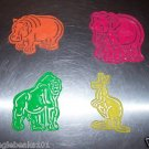 4 ZOO Animals Stencils toys gifts prizes kids arts craft
