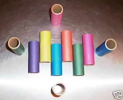 """6 3"""" Bagel TUBES toy parts parrots cages rabbit chins"""