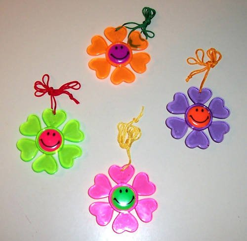 4 SMILEY FACE necklaces kids toys gifts prizes loot bag