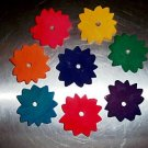 Large Colored Sunflowers bird toy parts 4 parrots craft