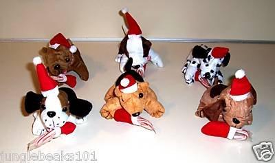 1 CHRISTMAS PLUSH PUPPY toys gift prize stocking stuffer