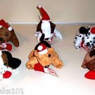 1 CHRISTMAS PLUSH PUPPY toys gift prize stocking stuffer