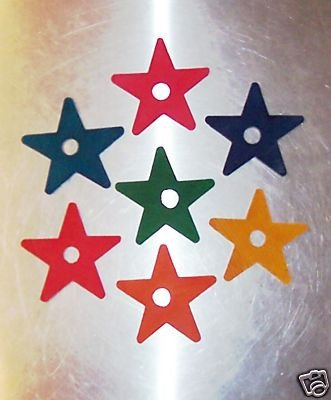 """2 1/4"""" Wood Stars bird toy parts 4 parrots cages perch"""