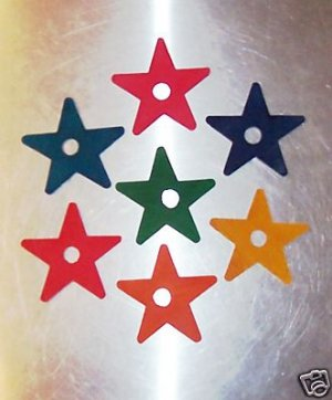 "2 1/4"" Wood Stars bird toy parts 4 parrots cages perch"
