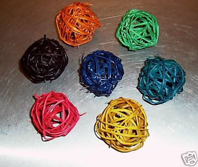 """5 1"""" Colored Twine Balls bird toy parts parrots crafts"""