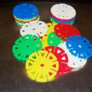 6 Medium SPIN WHEELS bird toy parts parrots cage craft