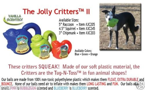 Scented Jolly CRITTER dog puppy chew SAFE rubber toys