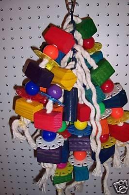 Block Monster bird toy parts 4 parrots cages perches