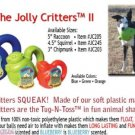 Jolly CRITTER dog puppy chew SAFE rubber toy shepherd