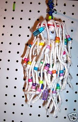 BABY SHAG bird toy  4 parrots cages cockatiels lorys