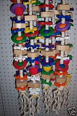 DREADBLOCK bird toy parrots cages Cockatoos Macaws