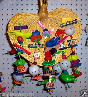 FAN-TASTIC bird toy parts parrots cages perches chew
