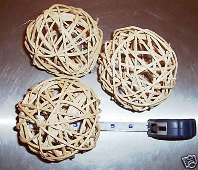 """100 4.5""""+ Twine Balls bird toy parts parrot crafts rabbit"""