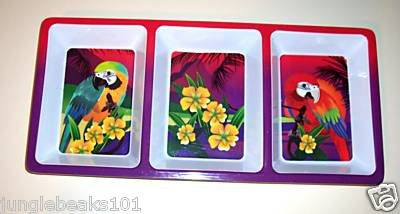 Parrot DIP TRAY bird household parties snacks macaw
