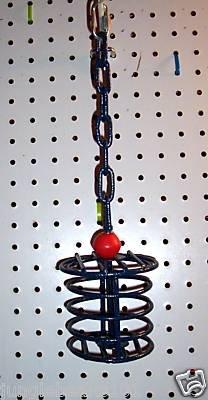 Medium Metal bird toy trat holder 4 parrot cages perch