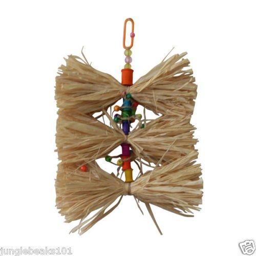 Triple Straw Tie bird toy parts parrots parkaeets finch