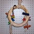 PLAY PEN SWING Small bird toy parrots cages perches