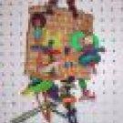 Square Chew bird toy parrots cage perch parrots conures