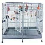 80x40 Double Macaw Stainless Steel bird cage +$410 toys