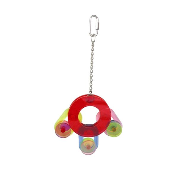 CIRLCES OF LIFE acrylic bird toy parts parrots amazons