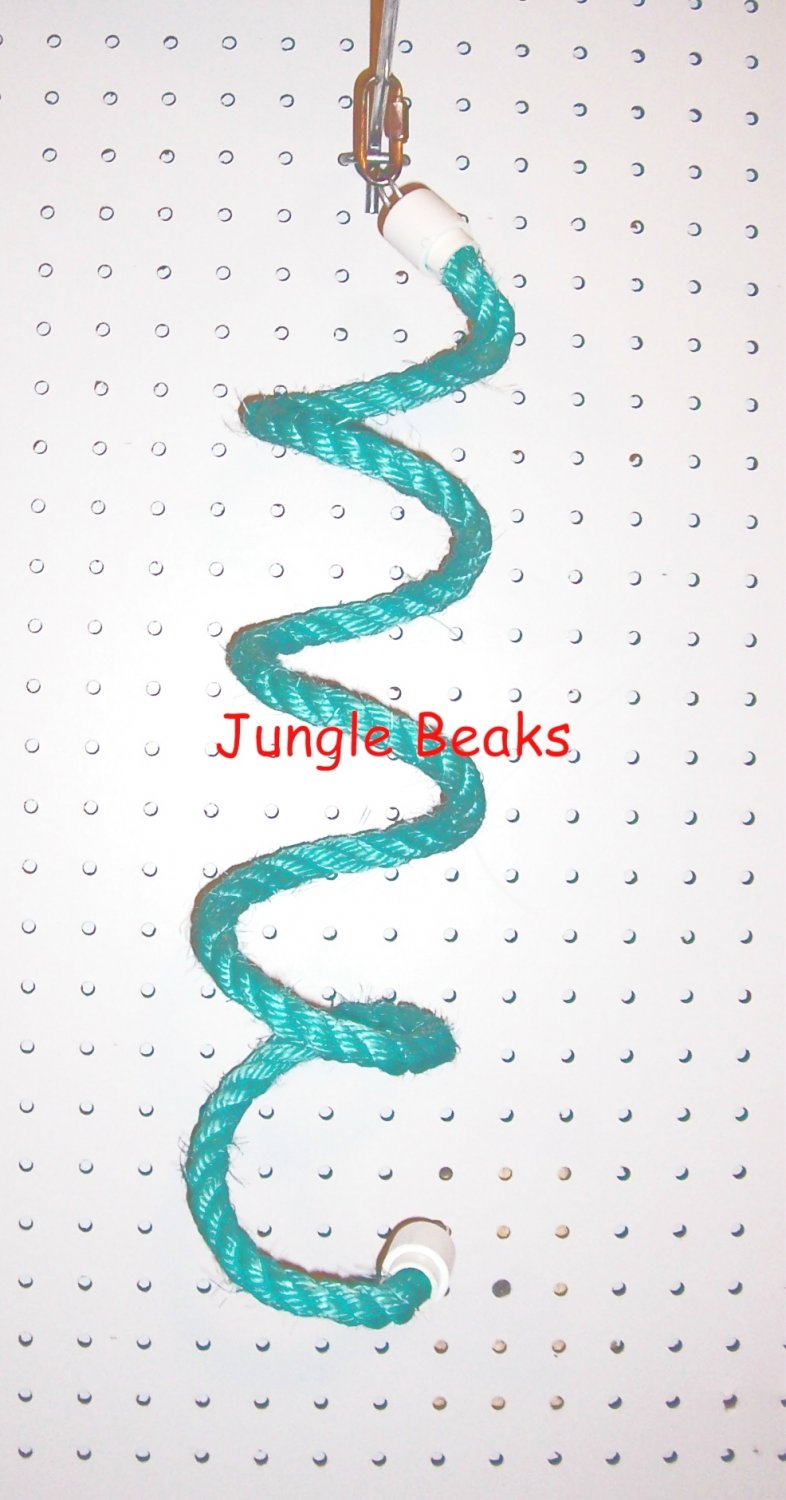 SMALL SKY BLUE Sisal Rope Boing bird toy swing parts parrots cages perches