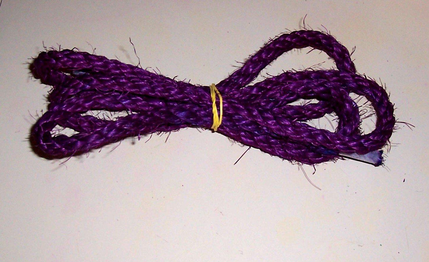 "3/8"" PURPLE SISAL Rope Unoiled bird toy parts 5' glider"