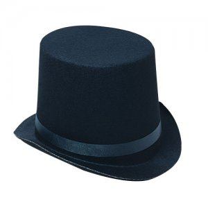"LRG Black Felt TOP HAT 6"" Crown toy gift prize kid magic costume"