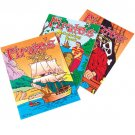 Pirate Coloring Books (6) toys gifts prizes kids loot bags game