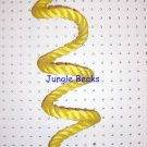 YELLOW Sisal Rope Boing Swing bird toy perch LRG parrot