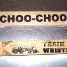 1 Wooden TRAIN Whistle toys gifts prizes kids favor